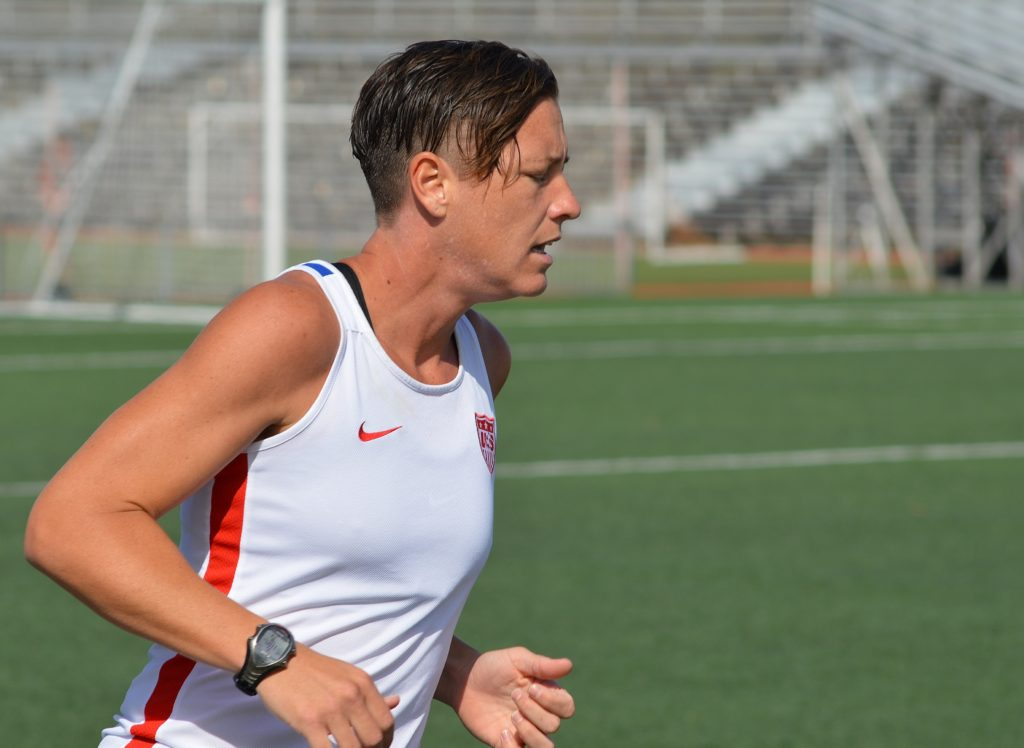Abby Wambach training at WWT Soccer Park, April 2015
